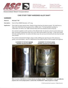 thumbnail of Case Study 4140 Hardened Alloy Shaft Mirraloy TGP