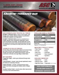 Flyer for Steel Threaded Bar