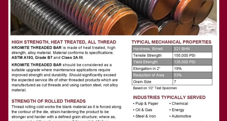 thumbnail of Kromite Threaded Bar Flyer Rev.3 042019