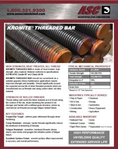 Flyer for Alloy Steel Threaded Rod