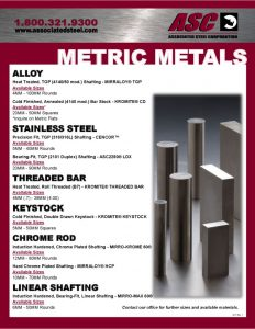 thumbnail of Metrics Metals Flyer